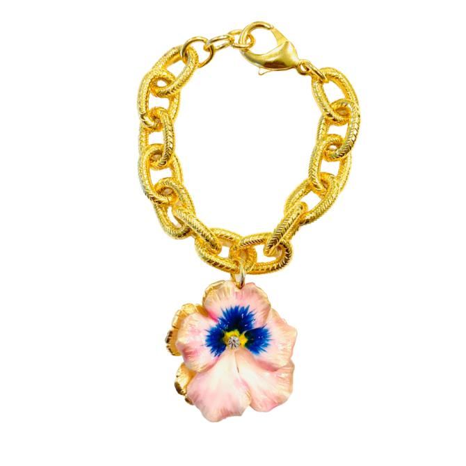 The Pink Reef pink pansy bracelet