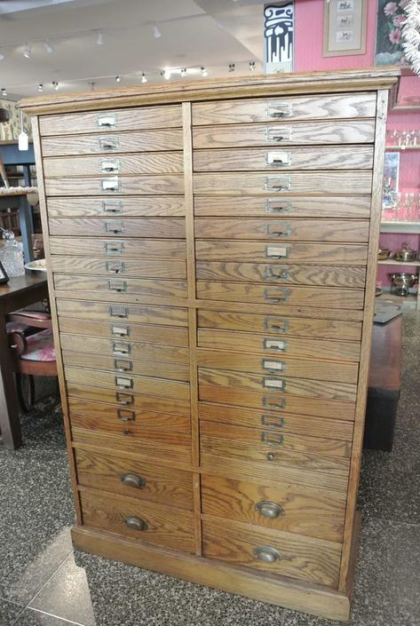 Large wooden cabinet / document chest. $950