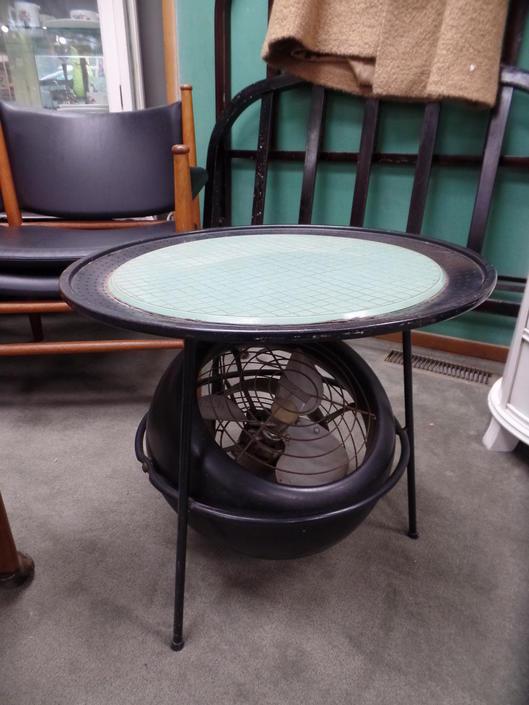 Atomic Era Vornado Table with Fan Base