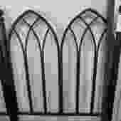 PAIR PRICED SEPARATELY GOTHIC STYLE IRON TWIN BEDS