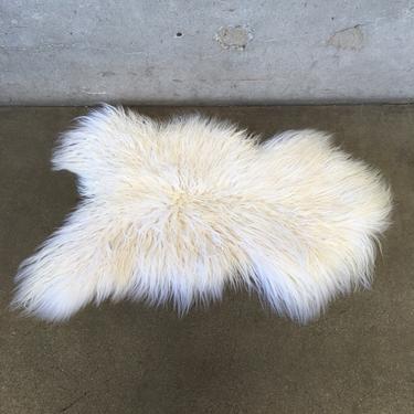 White Curly Icelandic Sheepskin