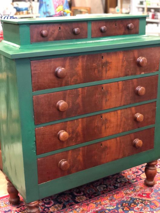 Vintage gentleman dresser in green by StylishPatina