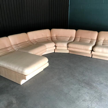 Carson's Six Piece Midcentury Sectional with Lounge Chaise by HermansSteelGarage