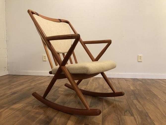 Benny Linden Teak Rocking Chair