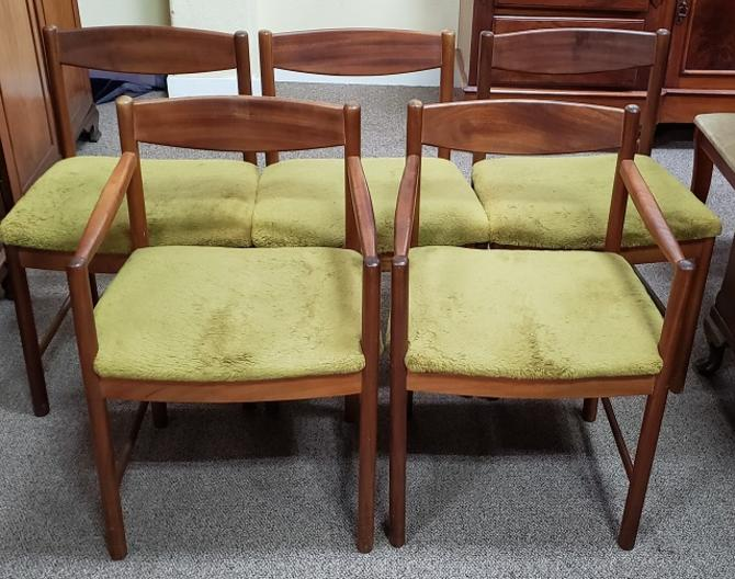 Item #S2029 Set of Five Vintage Dining Chairs by McIntosh c.1960s