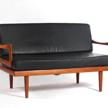Rare Love Seat / Sofa by Tove & Edvard Kindt-Larsen for Gustav Barhus, Norway by ABTModern