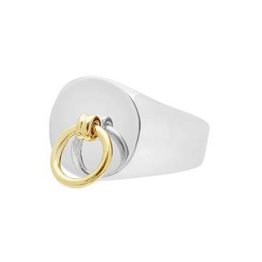 THE FREDERICK   STERLING SILVER & BRASS DETAILED DOOR KNOCKER RING