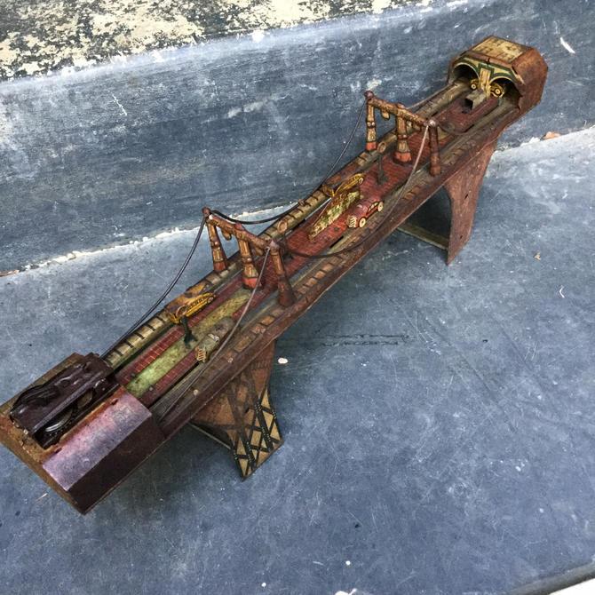 1930s Tin Busy Bridge Marx Toy Windup Rusty by BrainWashington