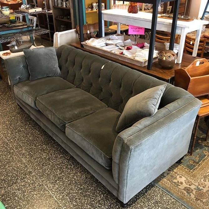Grey Velvet Robin Bruce Chesterfield Sofa