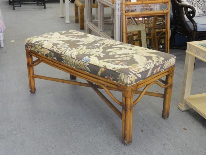 Island Style Rattan Bench