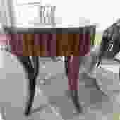 ETHAN ALLEN ROUND ACCENT TABLE