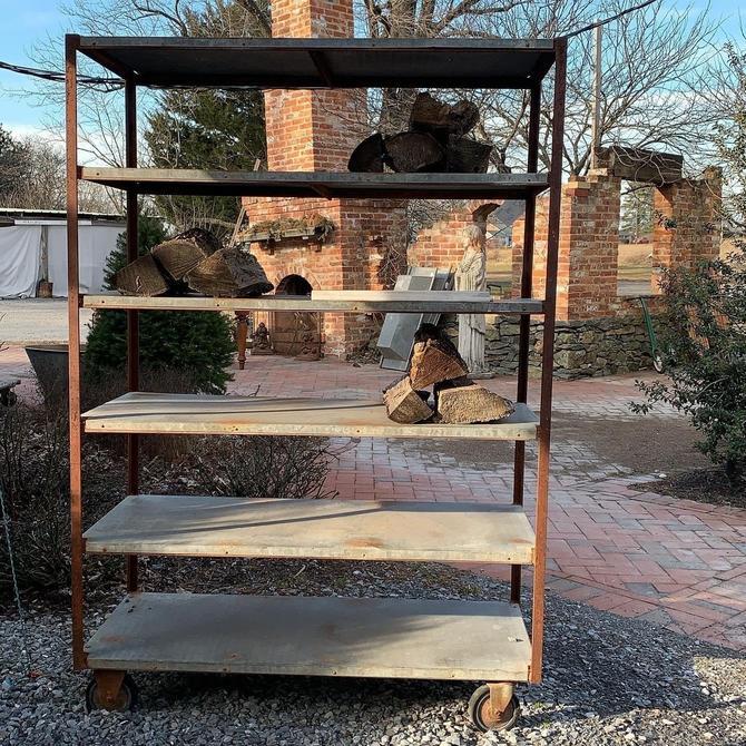Galvanized Rolling Shelf
