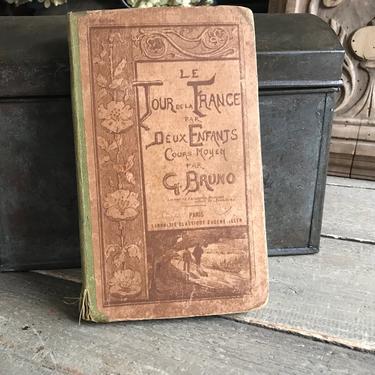 1910 French Book, Tour De France Par Deux Enfants, Maps, Industry, Farming, Peasant Artisan Culture by JansVintageStuff