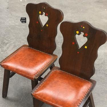 LOCAL PICKUP ONLY ———— Vintage Dining Chairs by RetrospectVintage215