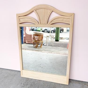 Split Reed Rattan Mirror