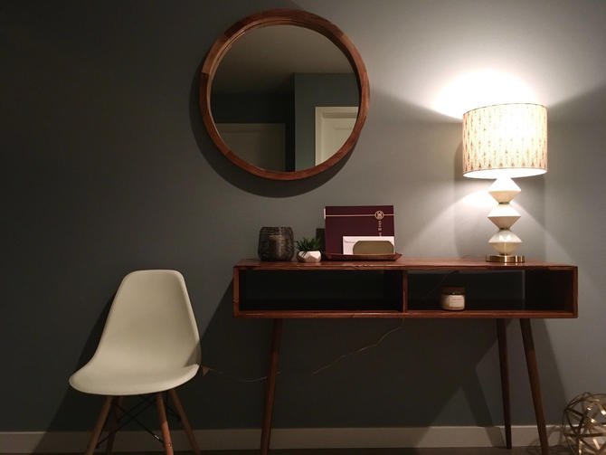 Mid Century Modern Sofa Table Entry Table Hallway Table by OrWaDesigns