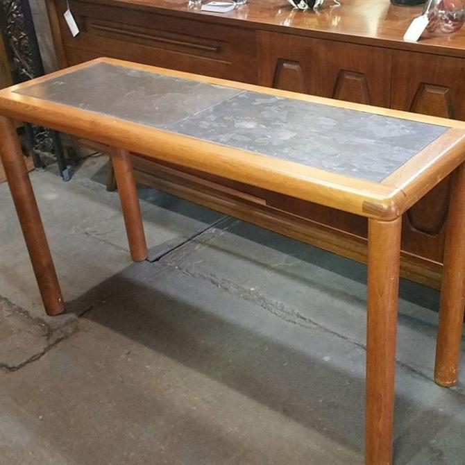 Danish Teak And Slate Sofa Table By Haslev. $295. From