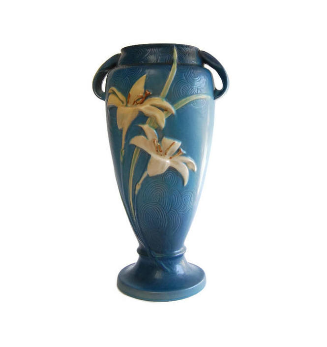 Roseville Zephyr Lily 141 15 Vintage American Art Pottery Arts