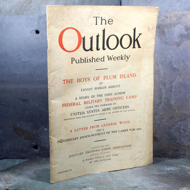 RARE! The Outlook, World War I Special Edition, December 1916 - Military Training Camps Edition (ROTC) about Plum Island | Free Shipping by Bixley
