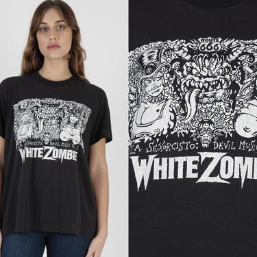 White Zombie Band T Shirt / La Sexorcisto Vol 1 Album Tee / Vintage Devil Music Concert / Thunder Kiss 65 Tour Heavy Metal T Shirt by americanarchive