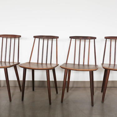 Set of 4 Vintage J77 Teak Chairs by Folke Palsson by GoldmineUnlimited