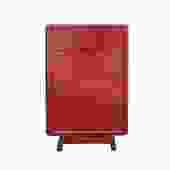 Distressed Red Lacquer Drawer Retro End Table Nightstand cs5427S
