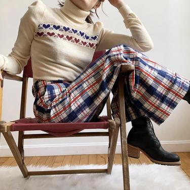 1970s Plaid Wide Leg Trousers by milkandice