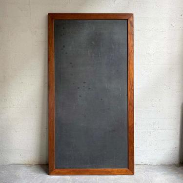 Large Industrial Framed Slate Chalkboard