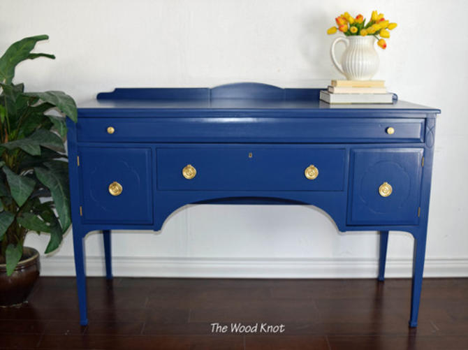 Antique Cherrywood Navy blue Buffet