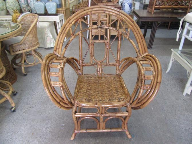 Old Florida Bamboo Occasional Chair