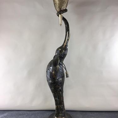Huge metal sculpture elephant torchiere floor lamp by Artmax by CurbsideSalvageLLC