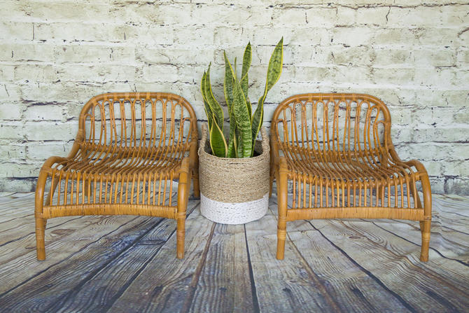 SHIPPING NOT FREE!!! Rattan  Low-Profile Chairs for Adults (very comfortable) by WorldofWicker