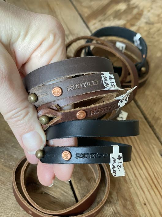 Leather Wrap Band Bracelet