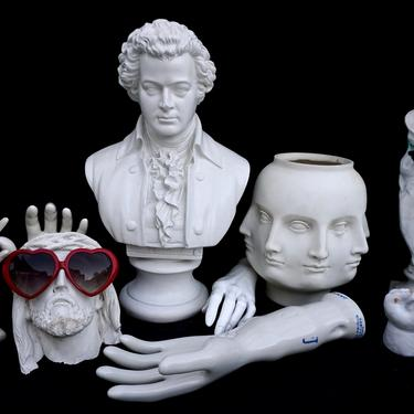"""Vintage 18"""" Classic Mozart Plaster Bust 