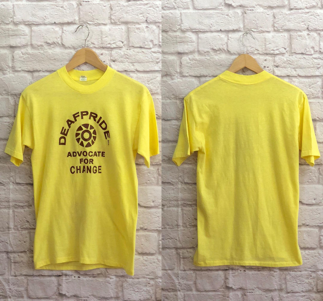 2b65dd7d08ea1 80's Vintage Retro Logo T-Shirt Canary Yellow Size Medium / Large by  westcoaststory from West Coast Story of Los Angeles, CA   ATTIC