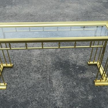 Hollywood Regency Brass Finish Console Table TV Stand 2204