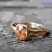 Rose Cut Diamond in Recycled 14k and 18k gold by RachelPfefferDesigns