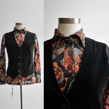 Vintage Black Velvet Vest by milkandice