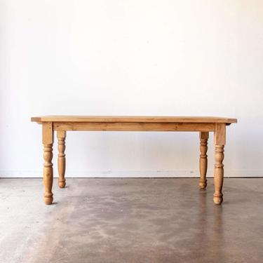 Reclaimed Wood Farm Table   Slim Edition   Floor Sample