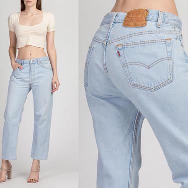 Vintage Levi's 501 Made In USA Jeans - Men's Medium, Women's Large | 90s Unisex Denim Straight Leg High Waist Boyfriend Jeans by FlyingAppleVintage