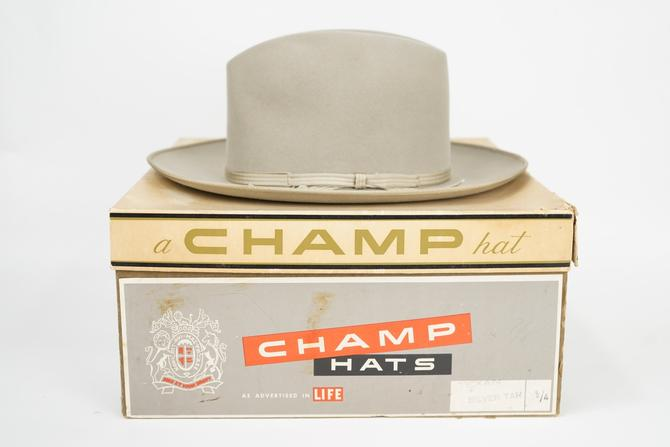 Champ Texan Felt Hat with Box