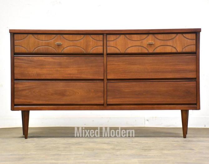 Walnut Bassett Long Dresser by mixedmodern1