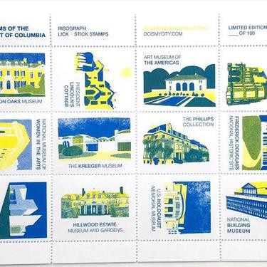 Museums of the District of Columbia - limited edition poster stamps