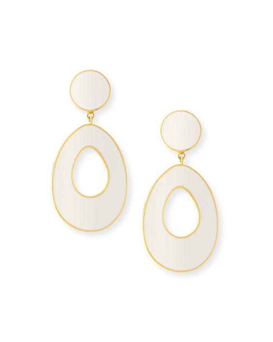 Bold Gold Enamel Earrings