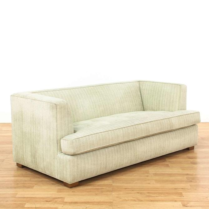 Striped Green Button Tufted Single Cushion Sofa From Loveseat Of Los