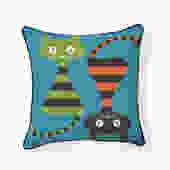 Yin Yang Cats Pillow