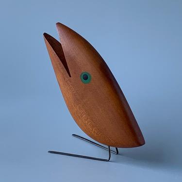 RARE Vintage Mid Century Modern Jacob Hermann Danish Teak Bird by HomeAnthology