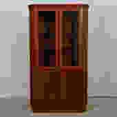 Danish Teak Corner Display Cabinet