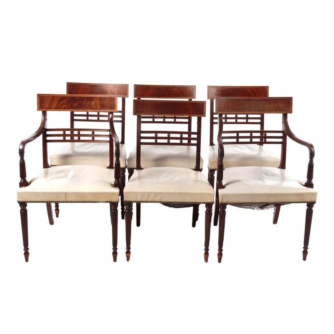 Six Regency Style Mahogany Dining Chairs