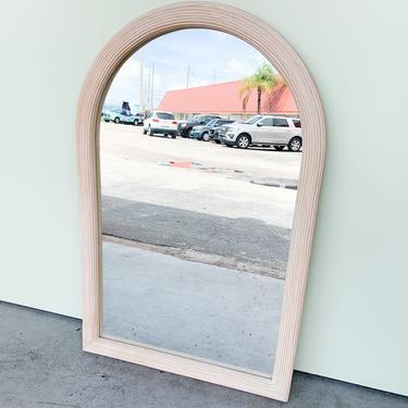 Split Reed Rattan Arch Mirror